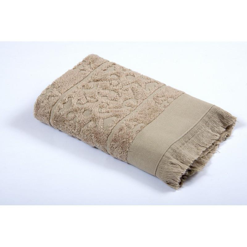Полотенце Tac Royal Bamboo Jacquard - S. Kahve 50*90