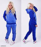 Женский теплый спортивный костюм со вставками