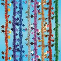 """Мишура новогодняя (дождик) """"Снежинки, звездочки"""" 50 мм, длина-4 метра, фото 1"""