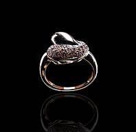 Золотое кольцо с бриллиантами С18Л3№8