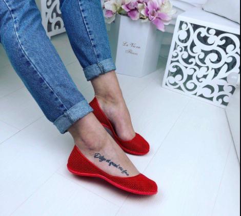 Балетки женские силиконовые Amore красные 40
