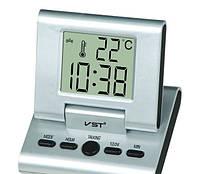 Цифровые настольные говорящие часы с будильником VST-7059C для дома и офиса
