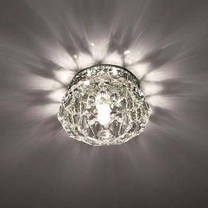 Встраиваемый светильник Feron JD85 прозрачный хром , фото 2