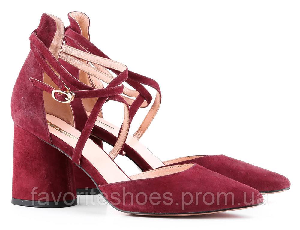 Туфлі Anemone 36 Бордовий 00000008379 - Интернет-магазин