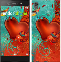 "Чехол на Sony Xperia XA1 Сердце в цветах ""220c-964-5114"""