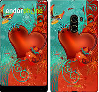 """Чехол на Xiaomi Mi MiX 2 Сердце в цветах """"220u-1067-5114"""""""