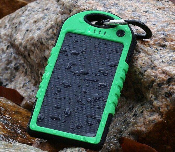 Солнечное зарядное устройство 5000 мАч - водонепроницаемый
