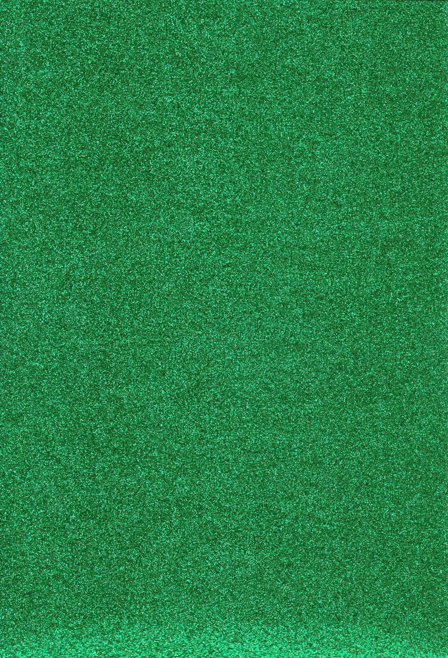 Фоамиран с блеском А4 Зелёный 2 мм. 8952
