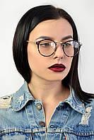 Имиджевые коричневые очки в широкой оправе, фото 1