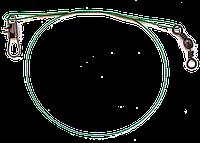 Поводок стальной снаряженный, зелёный 15,23,30см.