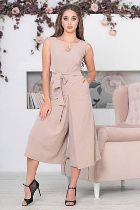 """Летний брючный женский комбинезон """"MILANO"""" с брошью и карманами (3 цвета), фото 2"""