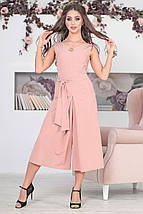 """Летний брючный женский комбинезон """"MILANO"""" с брошью и карманами (3 цвета), фото 3"""