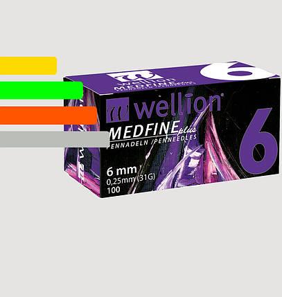 Иглы инсулиновые Wellion Medfine 6мм, 31G, фото 2