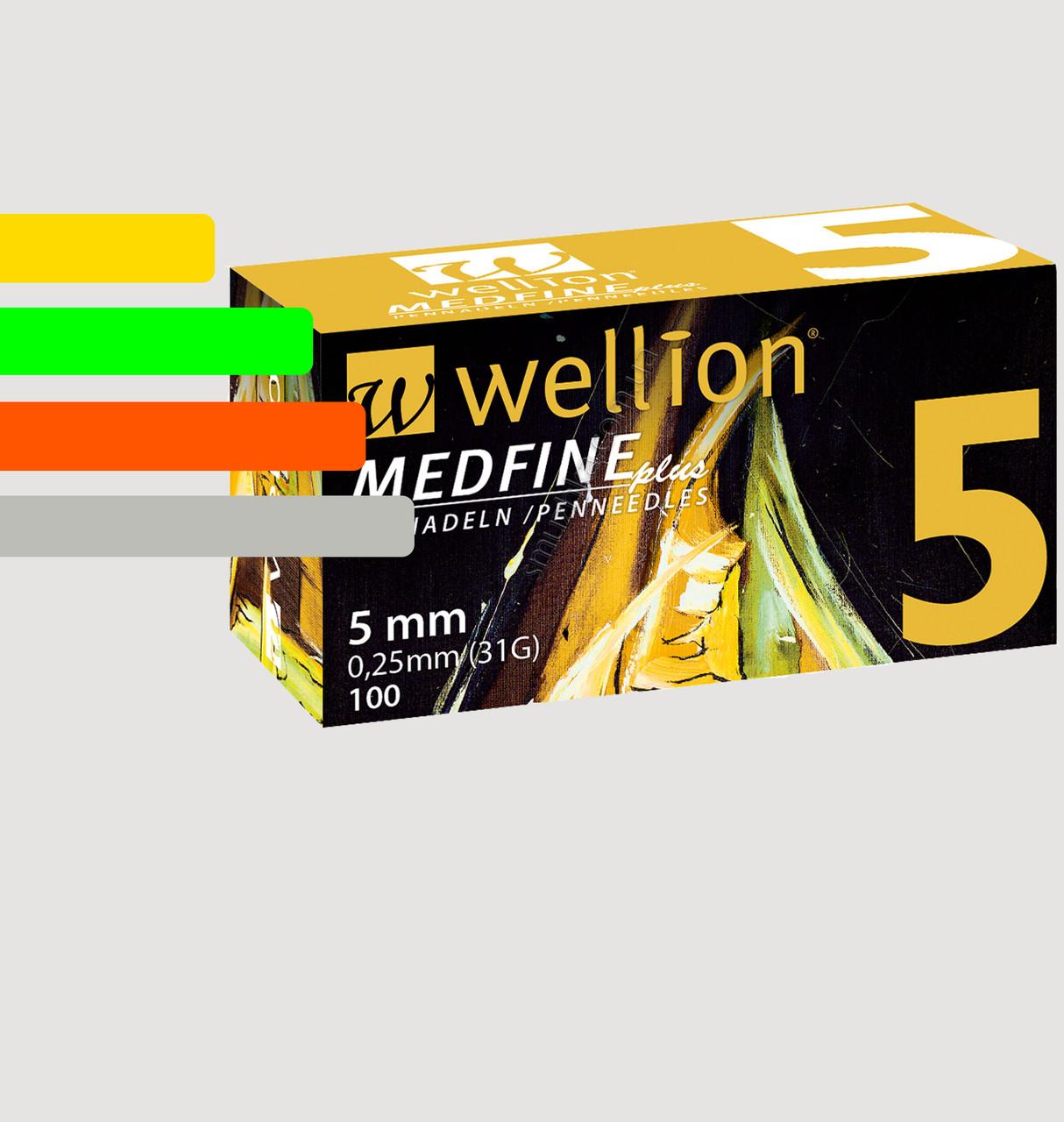 Иглы инсулиновые Wellion Medfine 5мм, 31G