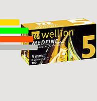 Иглы инсулиновые Wellion Medfine 5мм, 31G - Веллион Медфайн 5мм