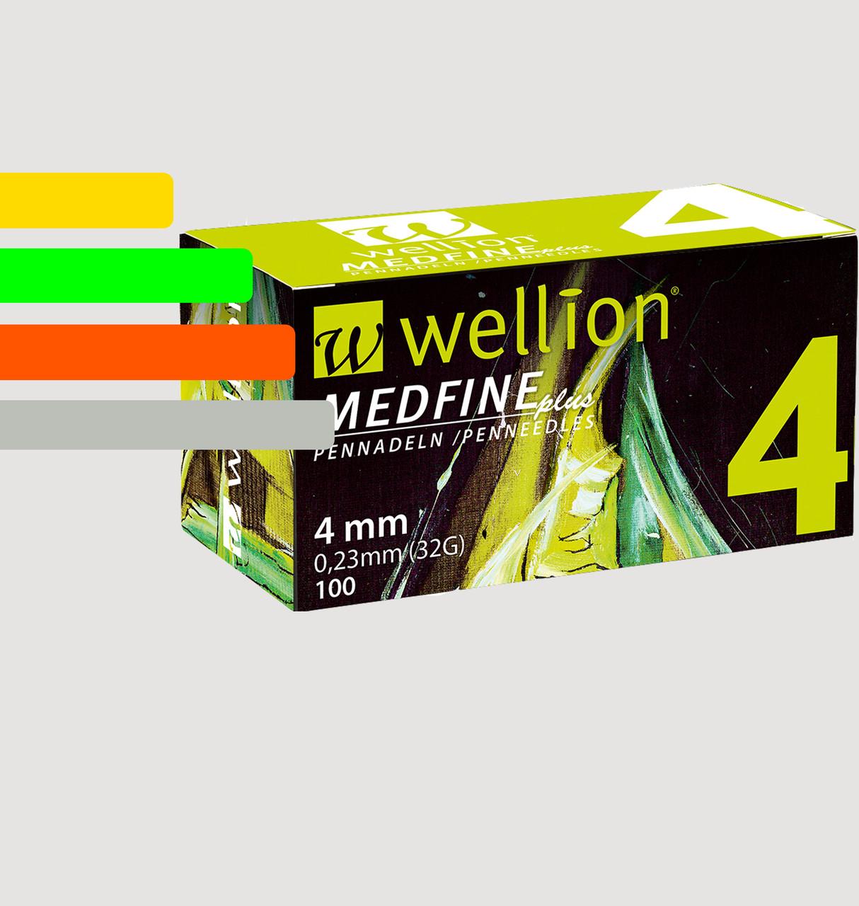 Иглы инсулиновые Wellion Medfine 4мм, 32G - Веллион Медфайн 4мм