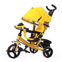 Трехколесный велосипед  TILLY с родительской ручкой желтый