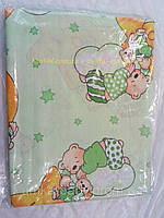 """Набор сменного постельного белья в детскую кроватку.Комплект """"Мишки на облачках"""""""