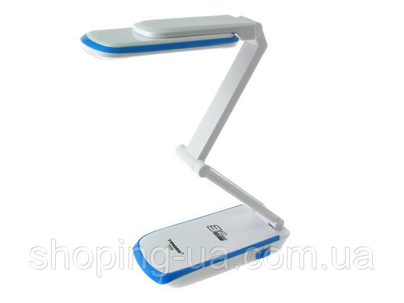 Настольная аккумуляторная лампа-трансформер голубая Tiross TS-56