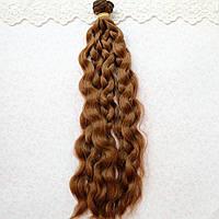 Волосы для кукол в трессах мелкие волны косичка, шангрила - 25 см