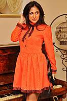 Платье гобелен стойка рюшики