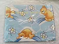 """Набор сменного постельного белья в детскую кроватку.Комплект """"Мишки и пчёлы"""""""