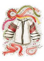 """Красивая открытка """"Вышиванка"""", фото 1"""