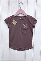 """Стильная детская футболка """"Кролик"""" в расцветке"""