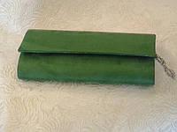 Вечерний клатч женский зеленый велюровый (Турция), фото 1