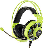 Наушники Remax XII-G949 Gaming Headset LED Green, фото 1