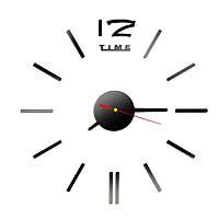 Часы настенные 3-d черные палочки