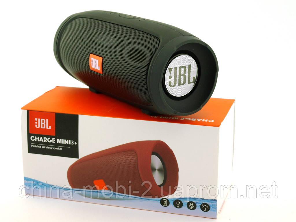 JBL Charge mini 3+ E3+ J007 6W копія, портативна колонка з Bluetooth FM MP3, чорна