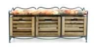 Диван (этажерка) с металлическим каркасом и тремя ящиками