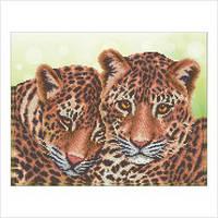 """Схема для вышивки бисером """"Леопарды"""""""