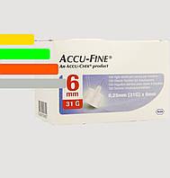 Иглы инсулиновые Accu - Fine 6mm, 31G