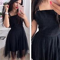 Платье белое чёрное розовое, фото 1