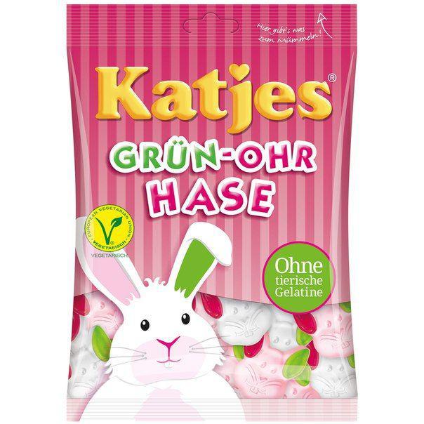Жевательные конфеты Katjes Grün-Ohr Hase