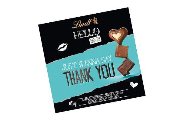 Lindt HELLO Thank you