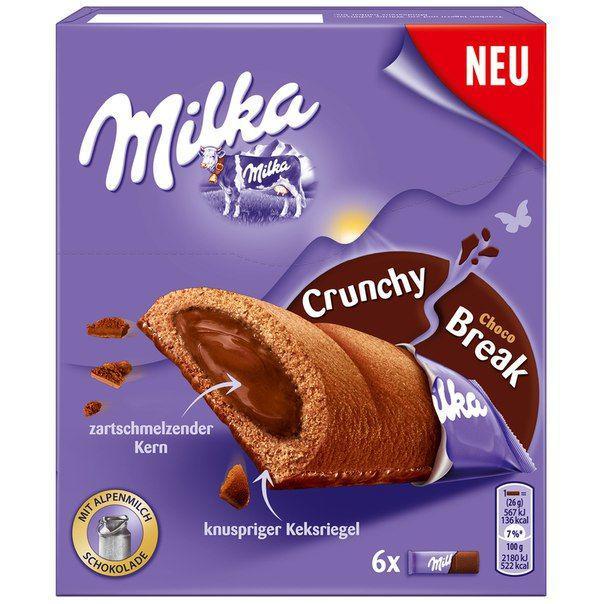 Батончики Milka Crunchy Break Choco 156g