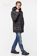 Мужская зимняя куртка с меховой опушкой CW18-17MD036CI графитовая, фото 3