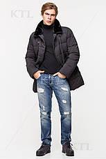 Мужская зимняя куртка с меховой опушкой CW18-17MD036CI графитовая, фото 2