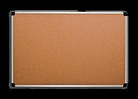 Пробковая доска 100х65 см. в алюминиевой раме S-line. A57
