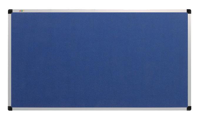 Текстильная доска синяя 180х100 см. в алюминиевой раме S-line. A64