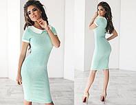 Платье летнее, приталенное, с воротничком, три цвета, размеры 42,44,46, код 2035Т, фото 1