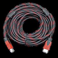 Кабель Kronos HDMI-HDMI 10 метров V1.4 19P M/M с ферритовыми фильтрами в нейлоновой оплетке