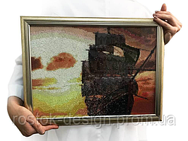 Картина Корабль в технике алмазная вышивка