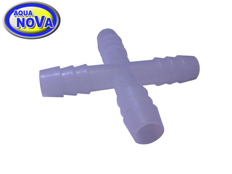 Крестовина для шланга 8мм (пластик)