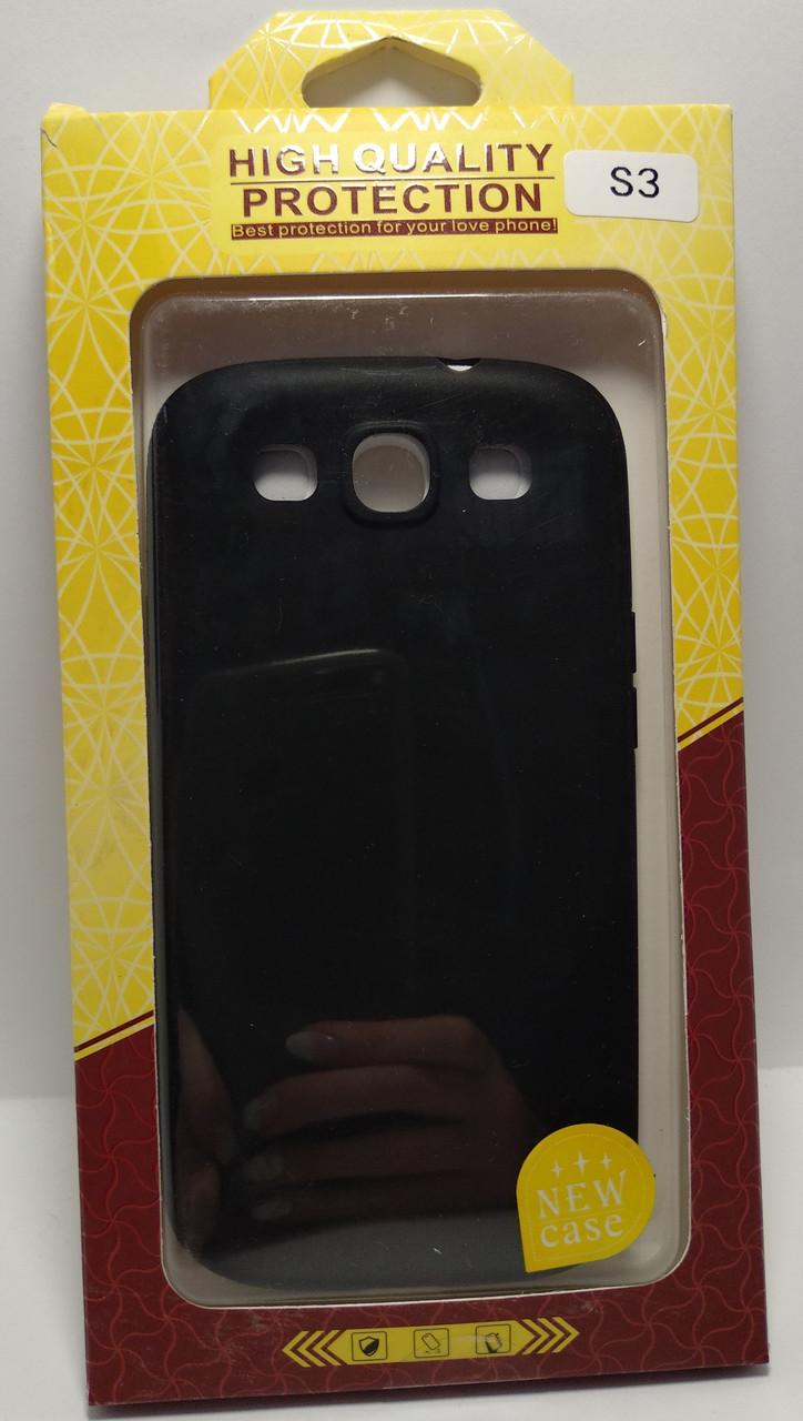 Силиконовый чехол High Quality Protection Samsung S3 черный