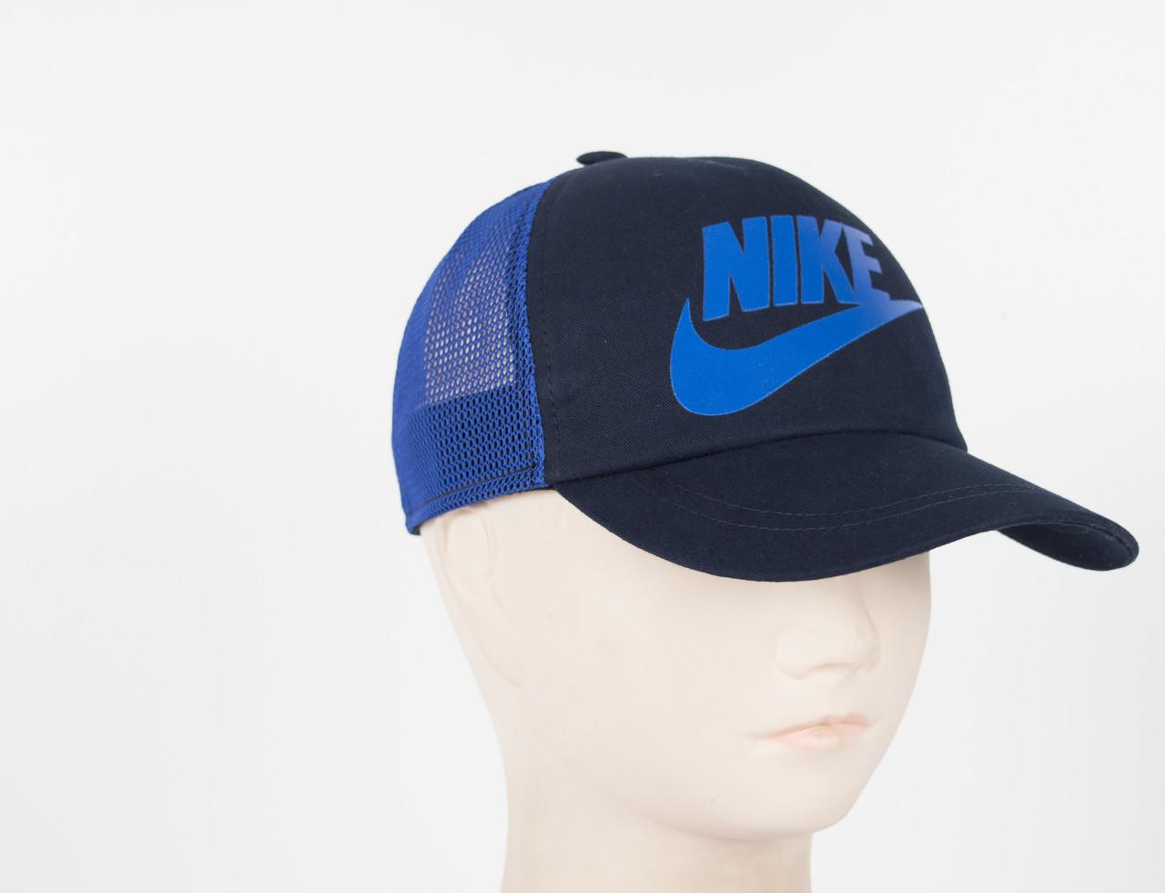Кепка сетка котон Nike синий
