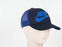 Кепка сетка котон Nike синий, фото 1